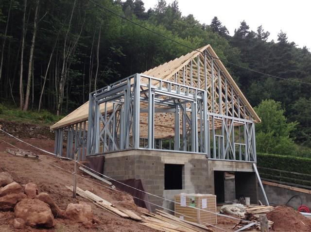 Concept De Construction De La Maison  Ossature Mtallique En Alsace