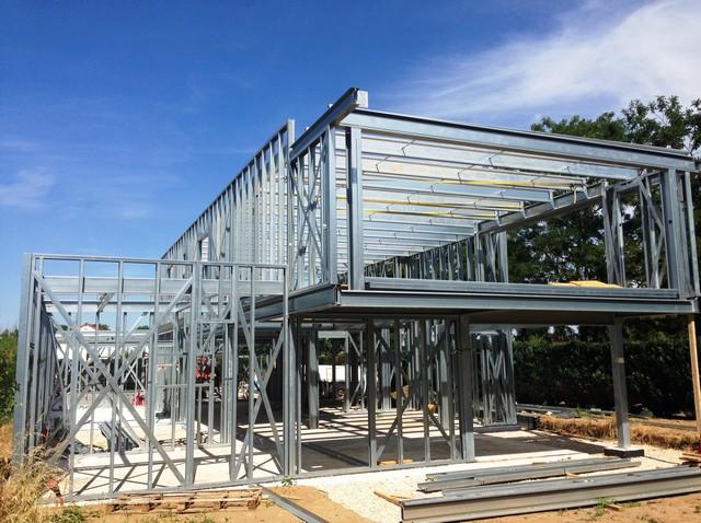 Concept de construction de la maison ossature m tallique en alsace - Construction maison ossature metallique ...